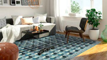 Salón con alfombra vinílica