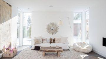 Sala de color blanco